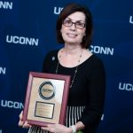 Nancy Gentes receiving the JOSEPHINE A. DOLAN SCHOOL OF NURSING DISTINGUISHED SERVICE AWARD